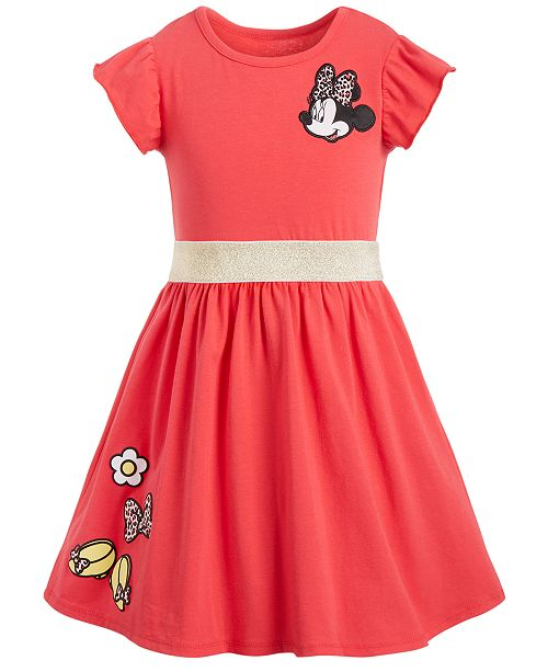 Disney Little Girls Minnie Mouse Patches Dress