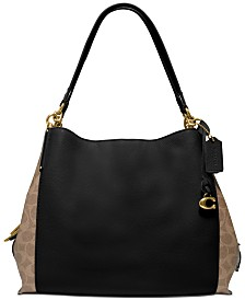 COACH Leather Dalton 31 In Signature Blocking