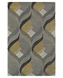 "Montage MTG06-75 Gray 5' x 7'9"" Area Rug"