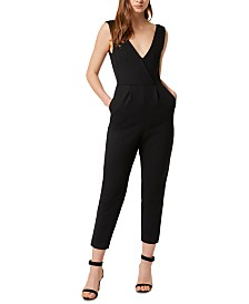 French Connection Marie Surplice-Neck Jumpsuit