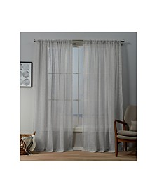 "Exclusive Home Itaji Sheer Rod Pocket Top 54"" X 84"" Curtain Panel Pair"