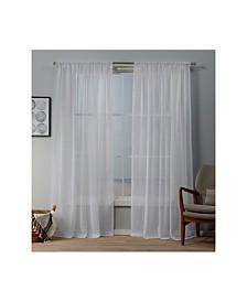 "Exclusive Home Itaji Sheer Rod Pocket Top 54"" X 96"" Curtain Panel Pair"