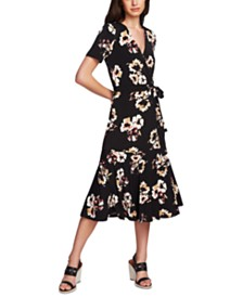 1.STATE Wrap Front Floral Dress