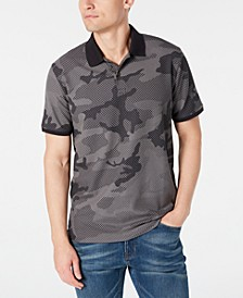 Men's Stretch Performance Camo-Print Piqué Polo Shirt