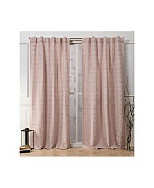 "Nicole Miller Helix Embellished Square Hidden Tab Top 54"" X 96"" Curtain Panel Pair"