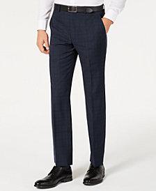 Michael Kors Men's Classic-Fit Airsoft Stretch Teal Plaid Suit Separate Pants