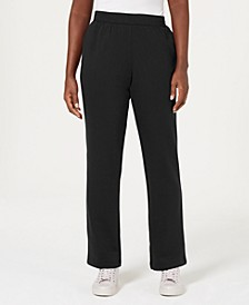 Petite Classic Fleece Elastic Waist Pants, Created for Macy's