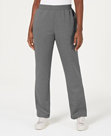 Karen Scott Fleece Pull-On Pants, Created for Macy's