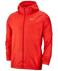 Men's Essential Water-Repellent Hooded Running Jacket