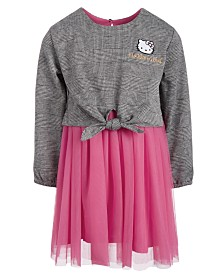 Hello Kitty Little Girls Tie-Waist Mesh Dress