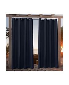 """Nicole Miller Canvas Indoor/Outdoor Grommet Top 54"""" X 108"""" Curtain Panel Pair"""