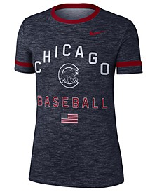Women's Chicago Cubs Slub Crew Ringer T-Shirt