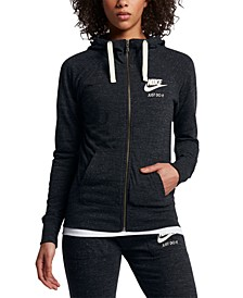 Women's Gym Vintage Full-Zip Hoodie