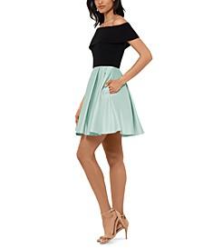 Off-The-Shoulder Fit & Flare Dress