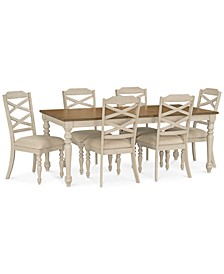 Larson Light Dining 7-Pc. Set (Expandable Table & 6 Side Chairs)