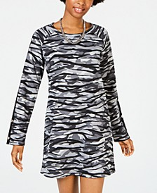Juniors' Embellished Sweatshirt Dress, Created for Macy's