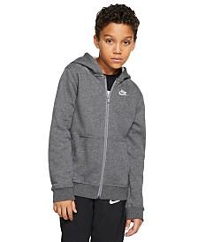 Nike Big Boys Fleece Logo Zip-Up Hoodie