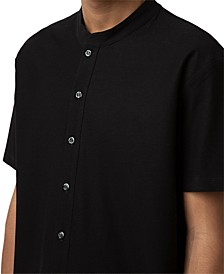 Men's Band Collar Shirt