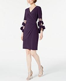 Petite Illusion Bell-Sleeve Dress