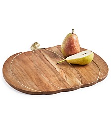 Martha Stewart Collection Harvest Wood Pumpkin Charger, Created for Macy's