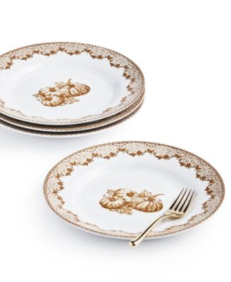 CLOSEOUT! Harvest Salad Plates, Set of 4, Created for Macy's