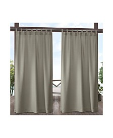 """Exclusive Home Indoor/Outdoor Solid Cabana Tab Top 54"""" X 108"""" Curtain Panel Pair"""