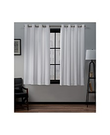 """Exclusive Home Academy Total Blackout Grommet Top 52"""" X 63"""" Curtain Panel Pair"""
