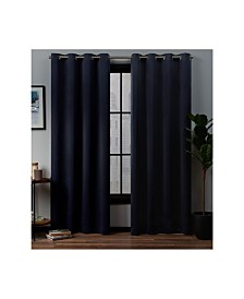 """Exclusive Home Academy Total Blackout Grommet Top 52"""" X 84"""" Curtain Panel Pair"""