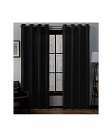 "Loha Linen Grommet Top Window 54"" X 96"" Curtain Panel Pair"