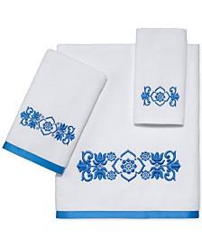 "Avanti Scroll Cotton 27"" x 50"" Bath Towel Collection"