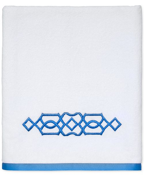 "Avanti  CLOSEOUT! Geo Cotton 27"" x 50"" Bath Towel"