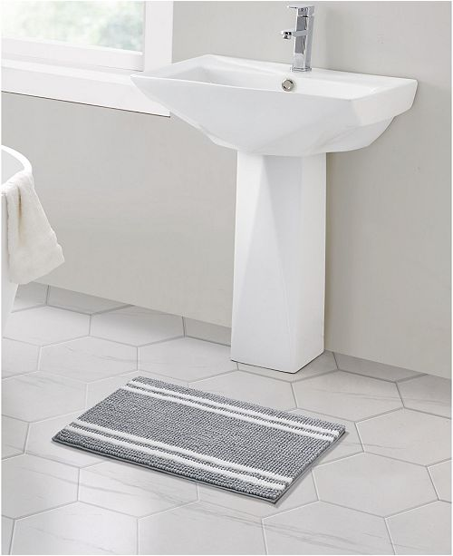 "VCNY Home Stripe Noodle 17"" x 24"" Bath Rug"