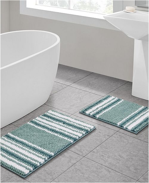 Vcny Home Aiden Jacquard 2 Pc Bath Rug