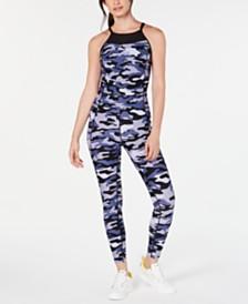 Calvin Klein Performance Camo Halter Jumpsuit