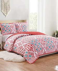 Zoey 3-Piece Reversible Quilt Set - Queen