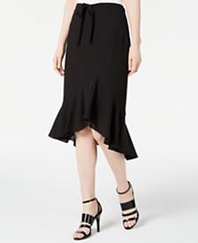 Calvin Klein Ruffled High-Low Skirt