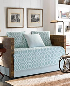 Tommy Bahama Catalina Trellis Harbour Blue Daybed Set