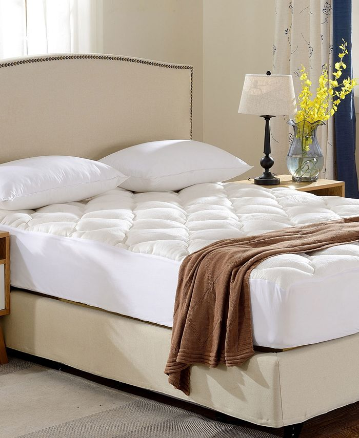 Cheer Collection - Rayon from Bamboo Fitted Down Alternative Mattress Pad-King