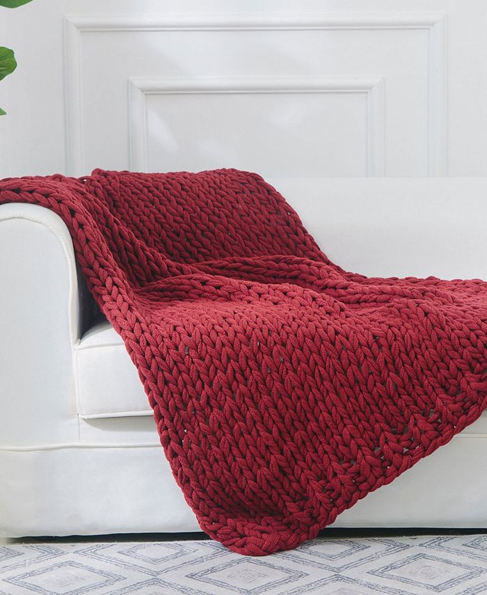 Cheer Collection - Chunky Cable Knit Throw Blanket