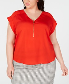 Calvin Klein Plus Size Cap-Sleeve Top