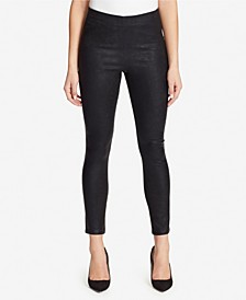 High Rise Pull On Skinny Ankle Jeans