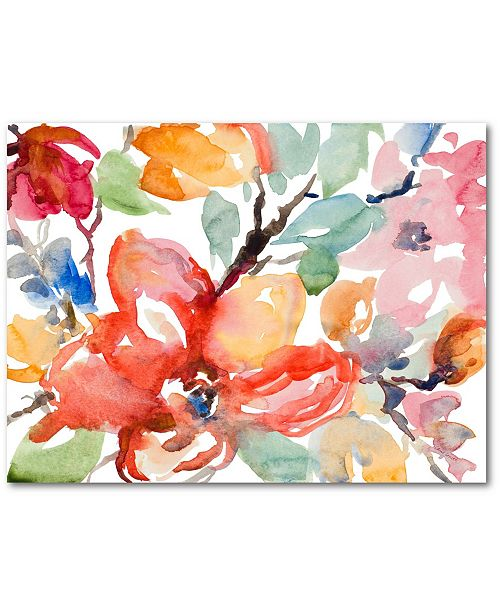 "Courtside Market Watercolor Flowers 16"" x 20"" Gallery-Wrapped Canvas Wall Art"