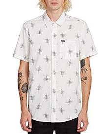 Men's Marker Fade Abstract-Print Shirt