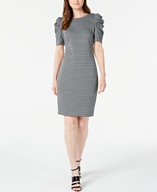 Calvin Klein Petite Puff-Sleeve Sheath Dress