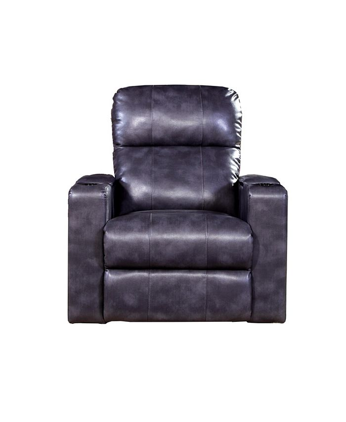 Home Meridian - Carroll Power Recliner w/ USB Port and Storage, Quick Ship