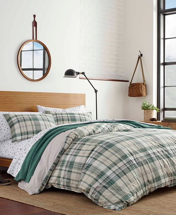 Eddie Bauer Timbers Plaid Comforter Set, Full/Queen
