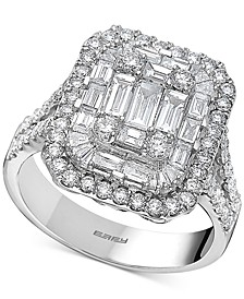 EFFY® Diamond Cluster Statement Ring (2 ct. t.w.) in 14k White Gold