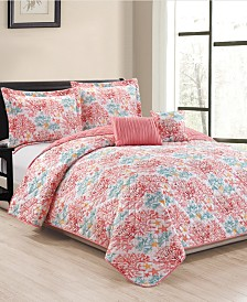 Reef 5-Piece Quilt Set - King