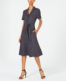 Anne Klein Belted Midi Shirtdress