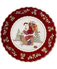 Toy's Fantasy Large Bowl: Santa on Rooftop